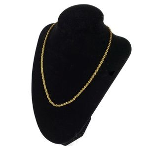 BOGO Gold Twisted Rope Chain Necklace